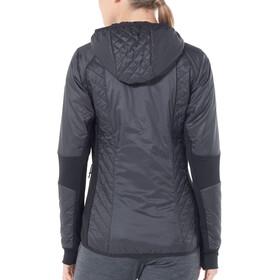 Icebreaker Helix Veste manches longues à capuche zippée Femme, black/jet heather